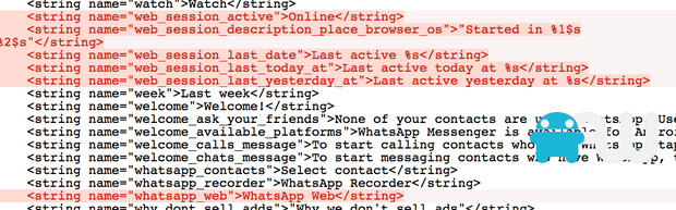 WhatsApp Messenger browser