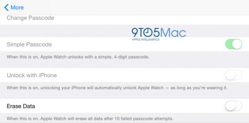 Aplicatie Apple Watch iOS cod de siguranta