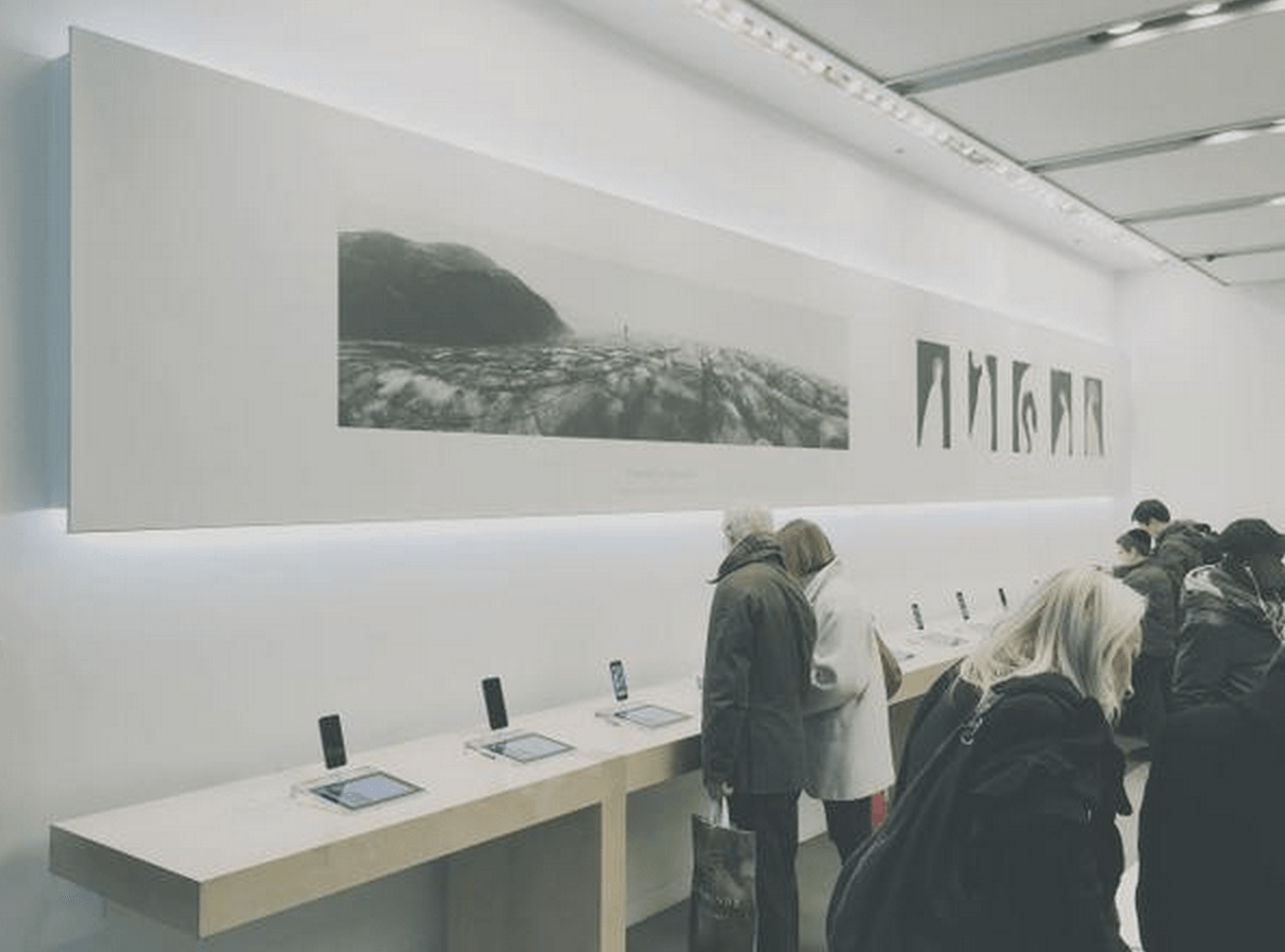 Apple store urile se transforma in galerii de arta pentru for Apple store campania