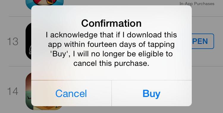 Apple confirmare returnare bani aplicatii