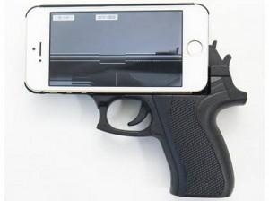 Carcasa pistol iPhone panica aeroport