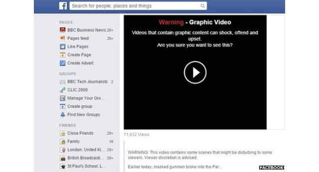 Facebook clipuri video continut obscen