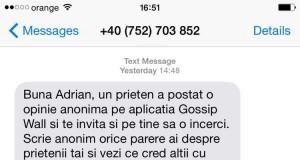 Gossip Wall SMS SPAM