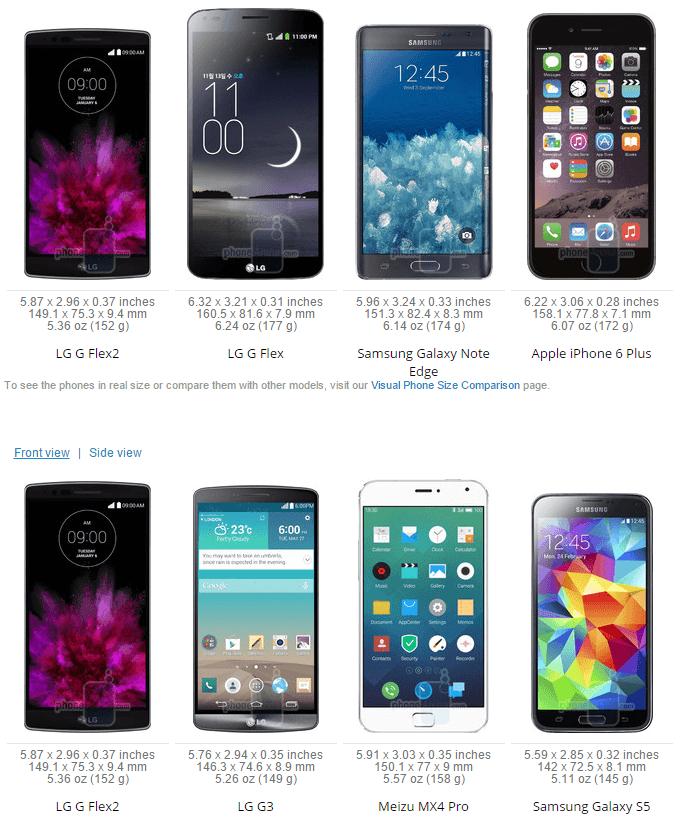 LG G Flex 2 vs iPhone 6 Plus