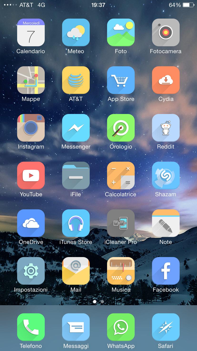 Lime tema iOS 8