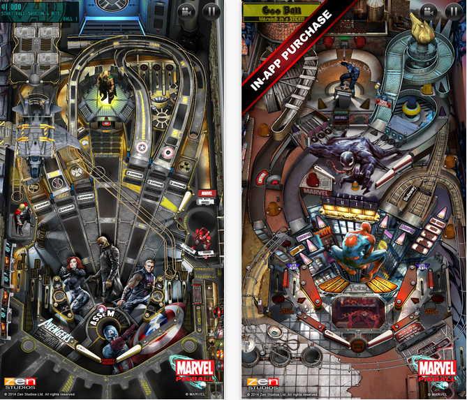Marvel Pinball aplicatia gratuita a saptamanii