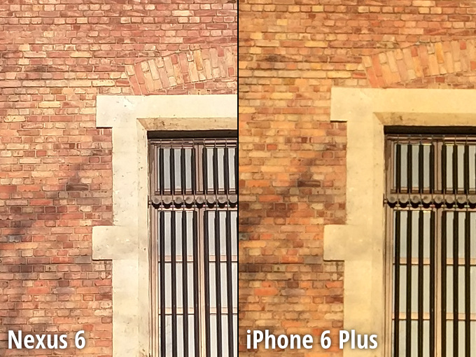 Nexus 6 vs iPhone 6 Plus camera