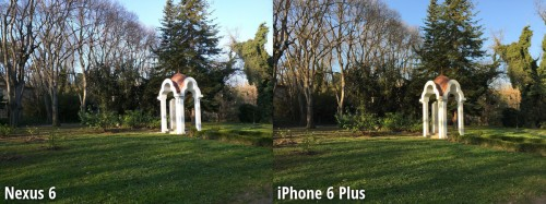 Nexus 6 vs iPhone 6 Plus comparatie camera