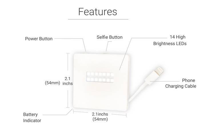 PowerLite accesoriu LED iPhone