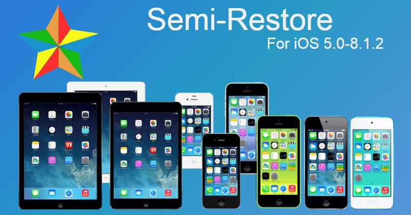 Semi-Restore iOS 8.1.2