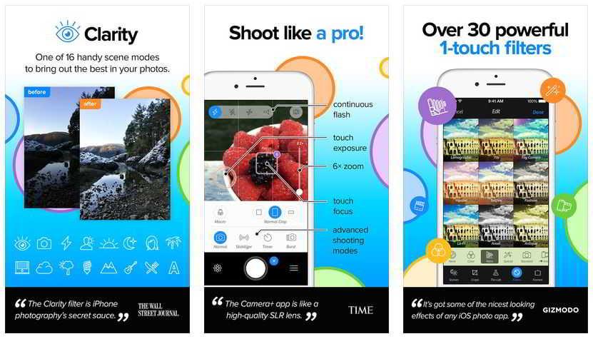 TOP 5 cele mai bune aplicatii pentru a face poze cu iPhone