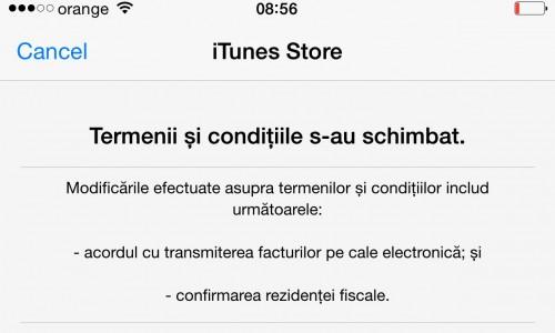 Termeni Conditii iTunes Store Romania