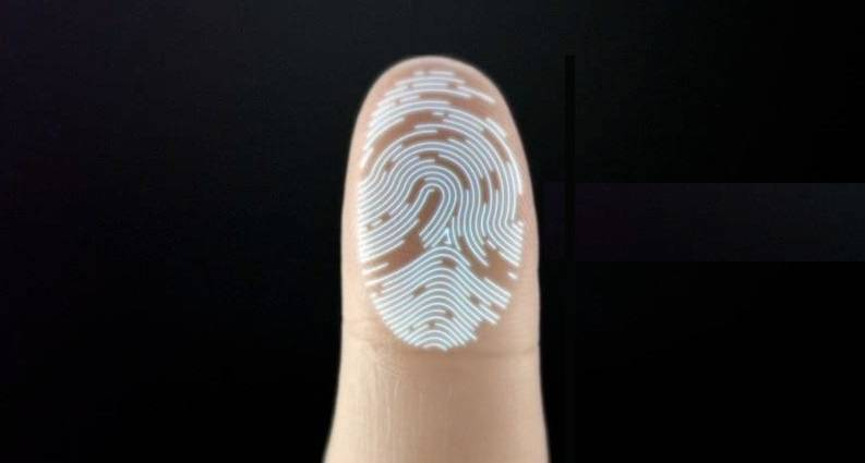 Touch id amprenta invers