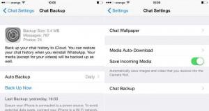 WhatsApp Messenger salvare conversatii