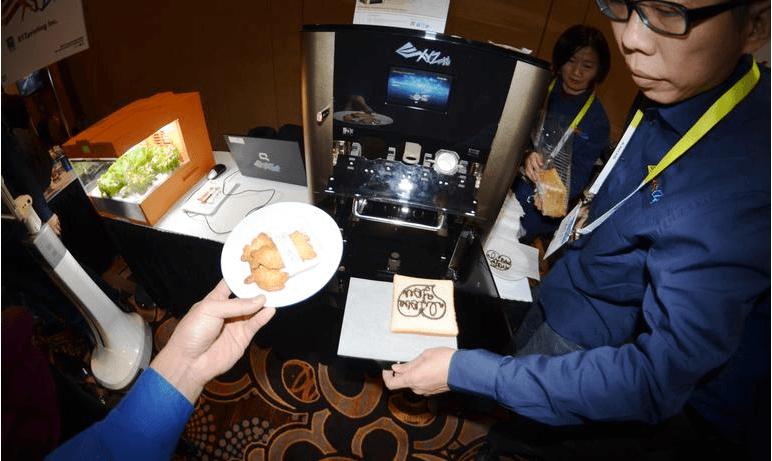 XYZPrinting imprimanta mancare CES 2015