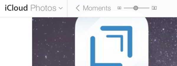 iCloud zoom