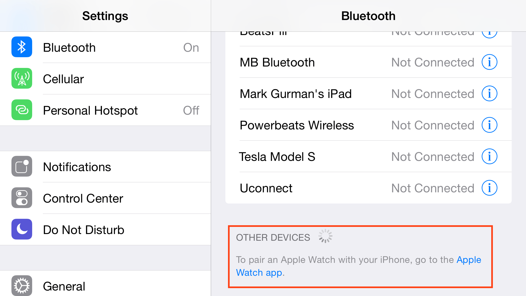 iOS 8.2 beta 4 Apple Watch
