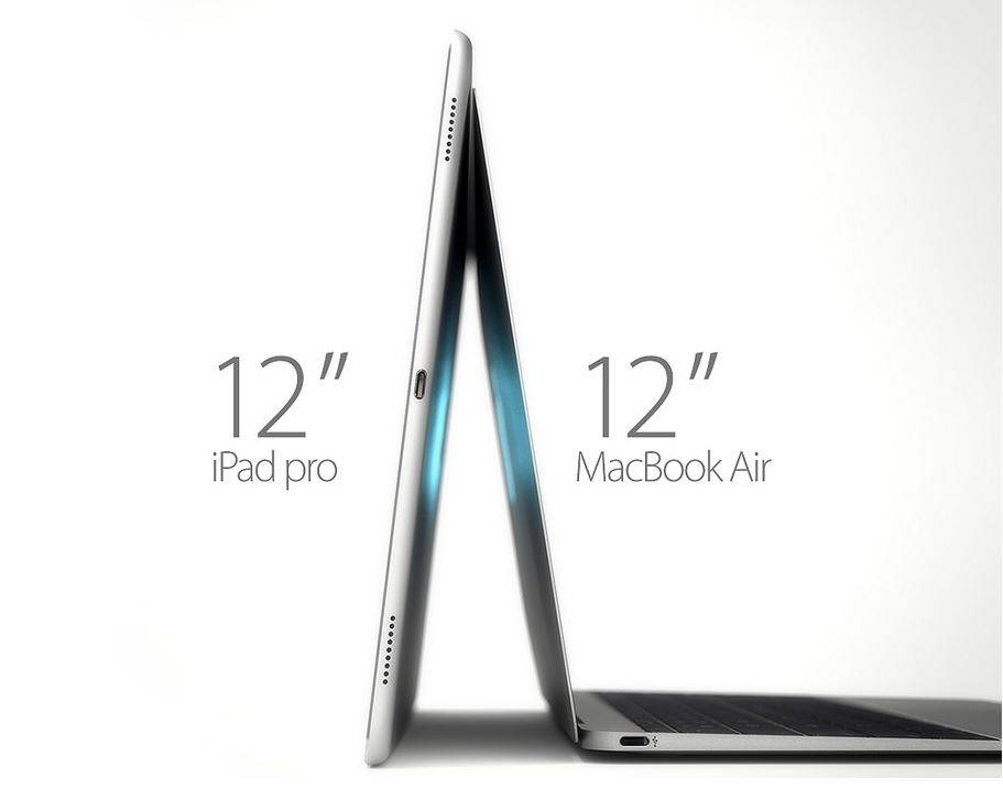 iPad Pro vs MacBook Air 12 inch 3