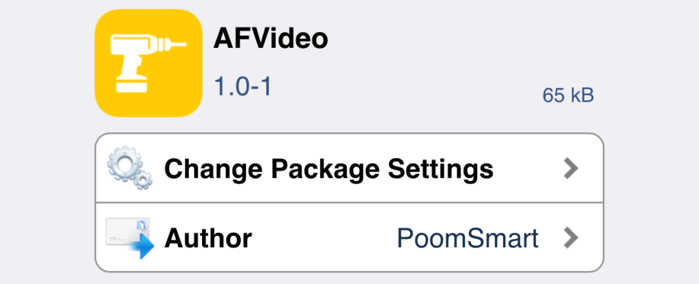 AFVideo autofocus video iphone