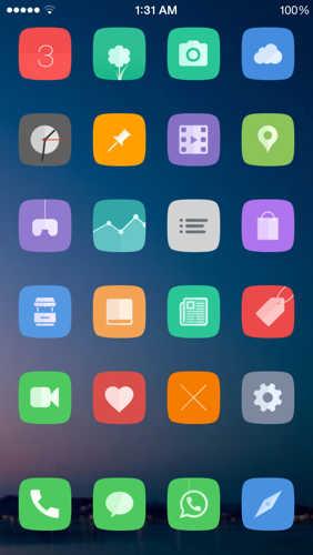 Amor tema iOS 8