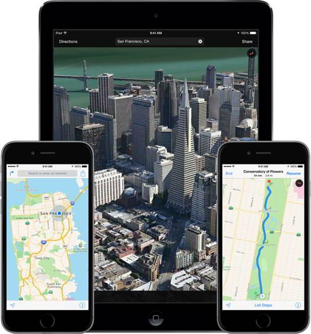 Apple Maps Flyover iOS 8