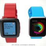 Apple Watch vs Pebble Watch 3
