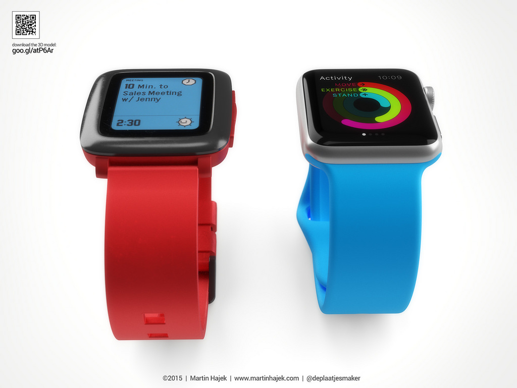 Apple Watch vs Pebble Watch 6