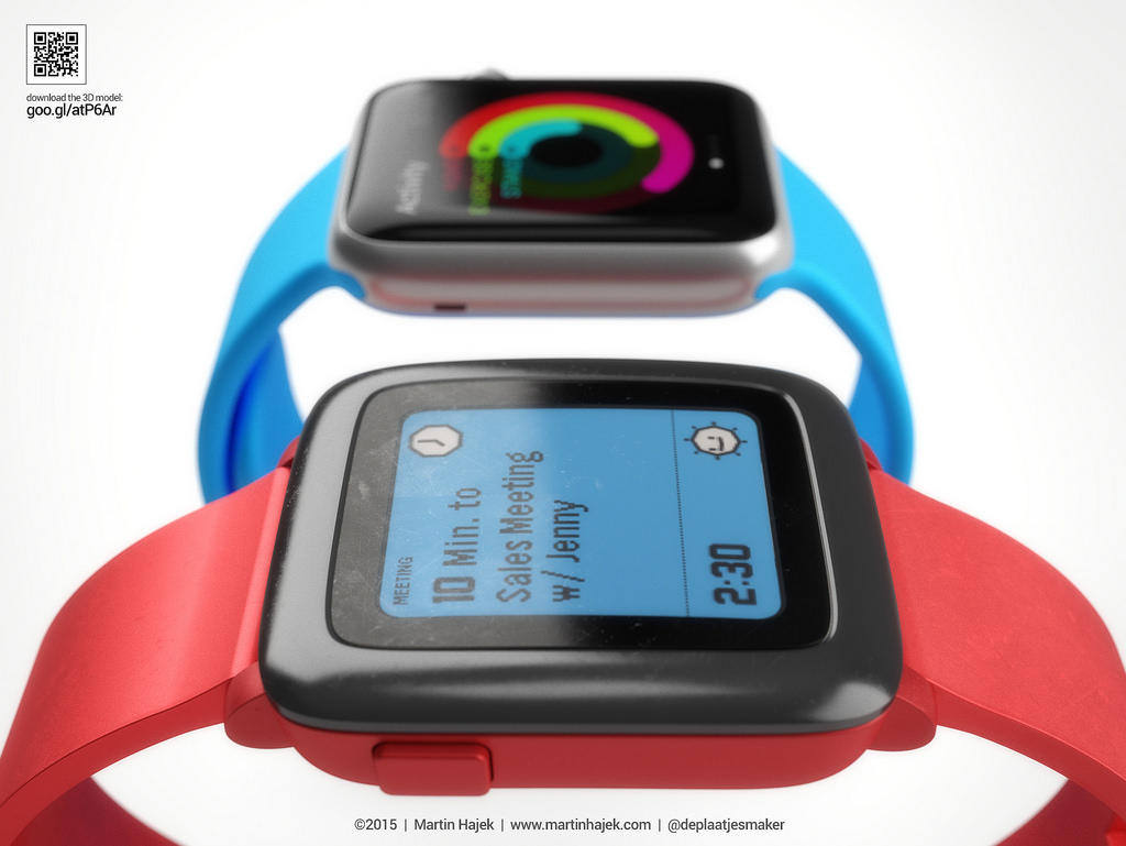 Apple Watch vs Pebble Watch 8