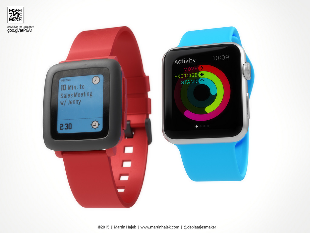 Apple Watch vs Pebble Watch