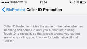 BioProtect Caller ID
