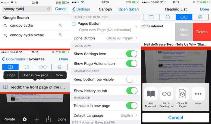 Canopy for iOS 8