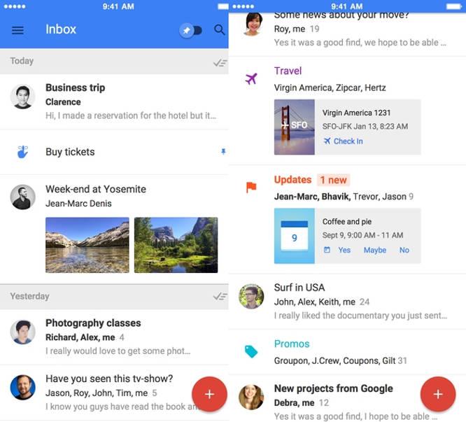 Google Inbox iPad