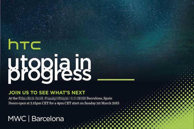 HTC One M9 invitatie conferinta presa