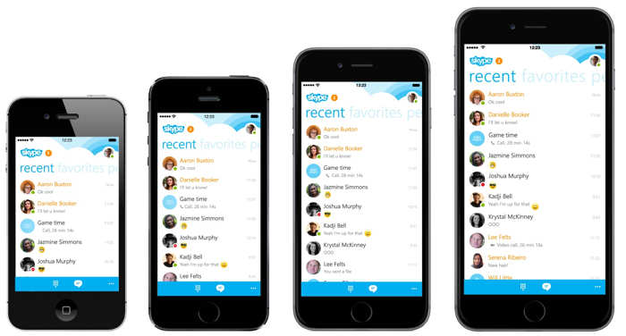 Skype iPhone iPad