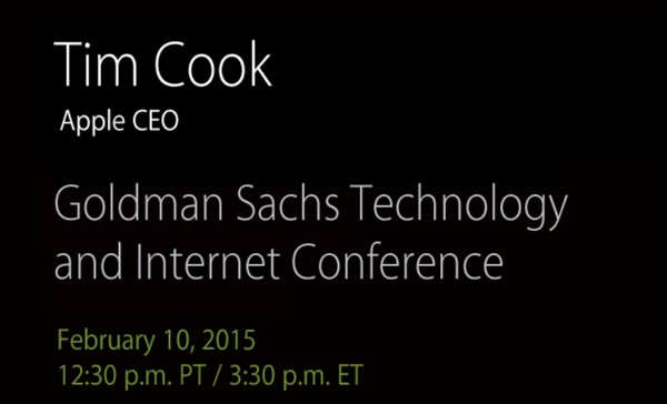 Tim Cook goldman sachs