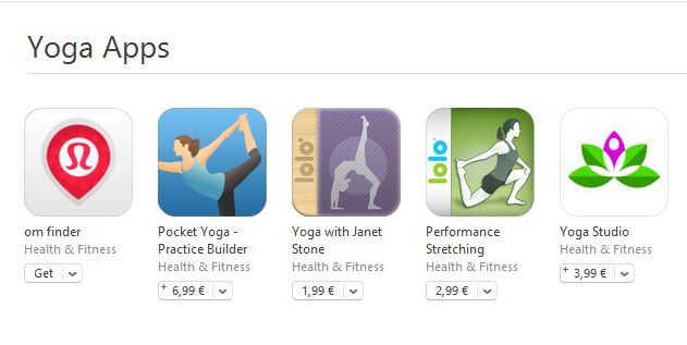 Yoga aplicatii