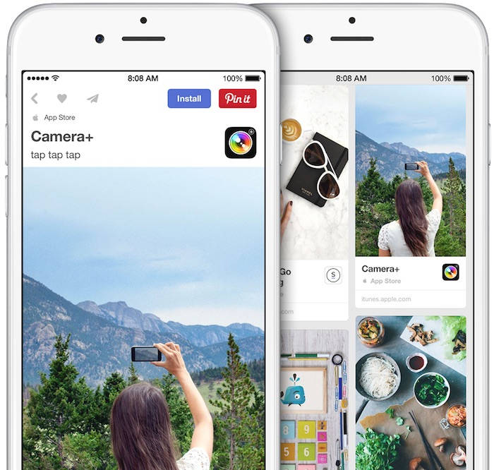aplicatii Pinterest