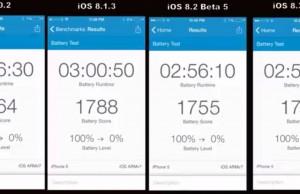 autonomie baterie iOS 8