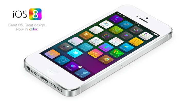 iOS 8 culoare