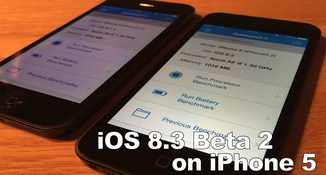iOS 8.1.3 vs iOS 8.3 beta 2 iPhone 5
