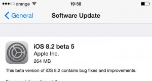 iOS 8.2 beta 5 update