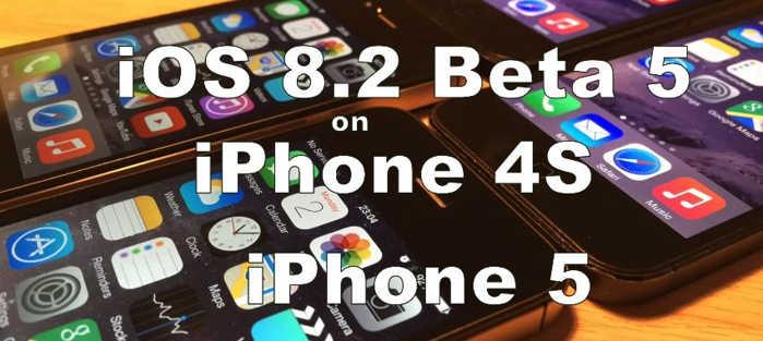 iOS 8.2 beta 5 vs iOS 8.1.3 iPhone 4S