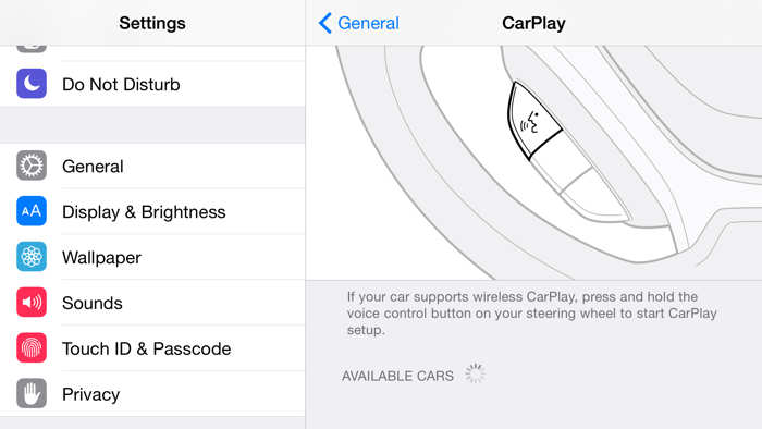 iOS 8.3 CarPlay wireless