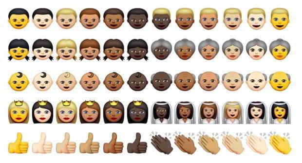 iOS 8.3 beta 2 emoji multicultural