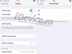 iOS 8.3 dezactivare 3G