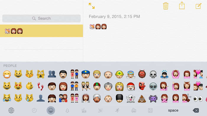 iOS 8.3 emoji noi