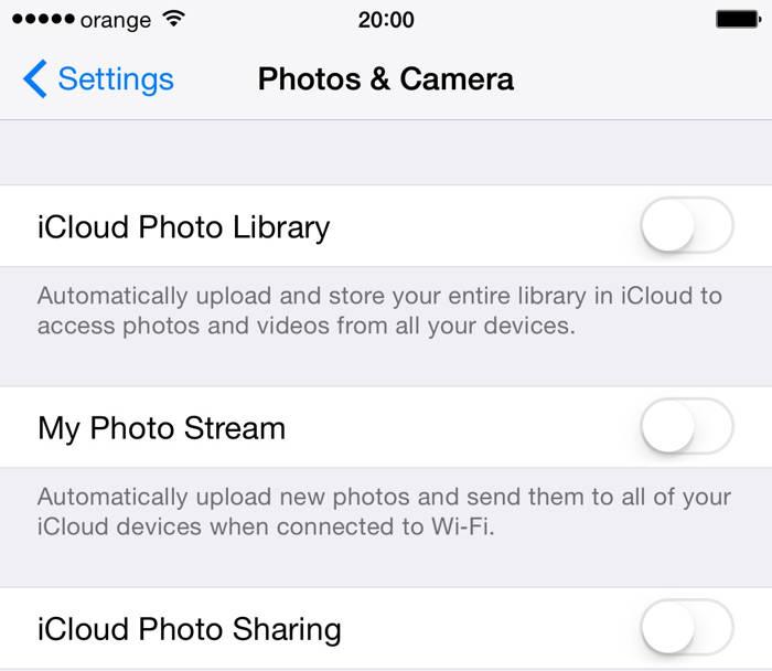 iOS 8.3 iCloud Photo Library