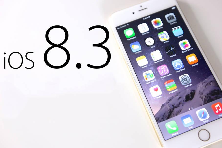 iOS 8.3 mai tarziu