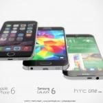 iPhone 6 Samsung Galaxy S6 HTC One M9 concept 2