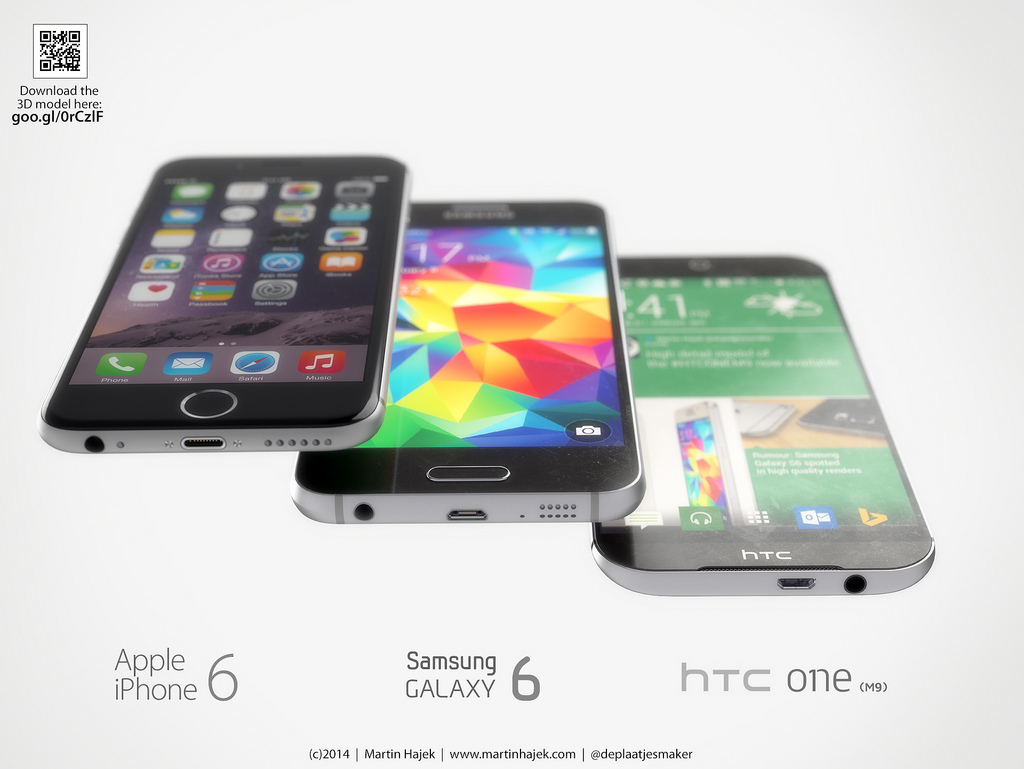 iPhone 6 Samsung Galaxy S6 HTC One M9 concept 2
